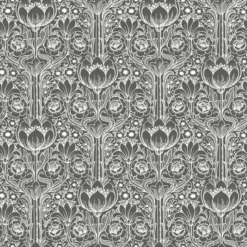 "Brewster Home Fashions Wall Vision 33' x 20.9"" Odessa Garden Damask Wallpaper"