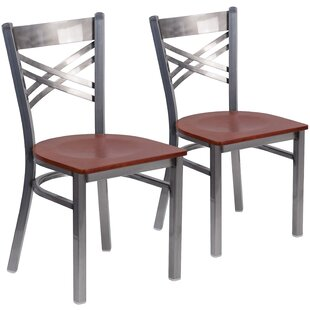MacArthur Curved Coated ''X'' Back Metal Restaurant Side Chair (Set Of 2) Comparison