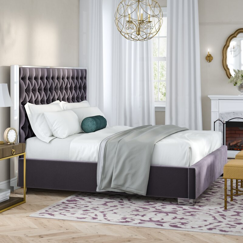 Everly Quinn Spadaro Upholstered Platform Bed Amp Reviews