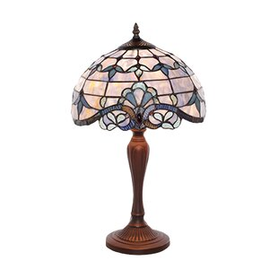 Stained glass table lamps wayfair downham tiffany style stained glass 205 table lamp greentooth Gallery