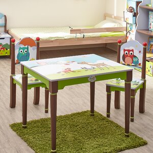 Enchanted Woodland 3 Piece Rectangle Table and Chair Set