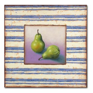 45adcfe8163  Pears and Stripes  Rachel Paxton Painting Print on Wrapped Canvas. by Trademark  Fine Art