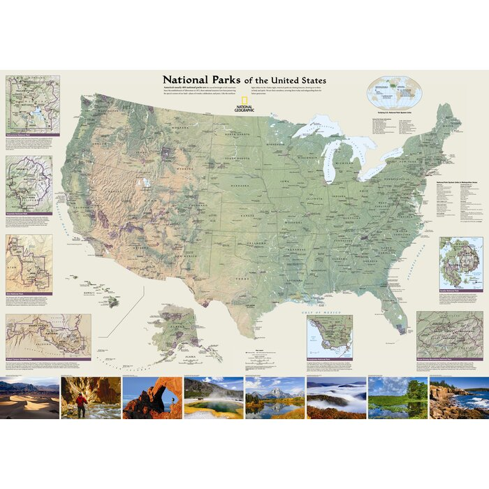 National Geographic Maps United States National Parks Wall Map ...