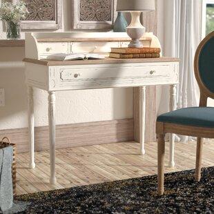 dbf26f7601b0 Sevan Solid Wood Secretary Desk with Hutch