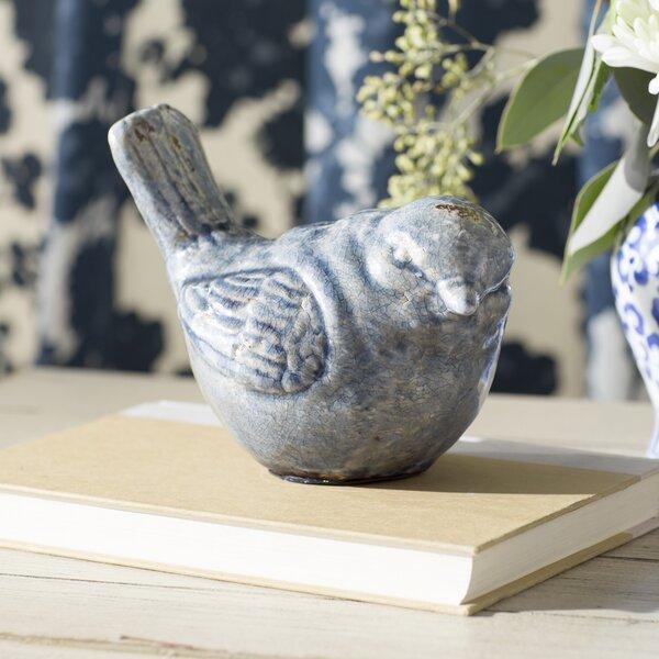 Lily Manor Teal Ceramic Bird Figurine Amp Reviews Wayfair