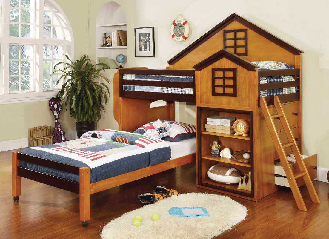 A Amp J Homes Studio Rachel Twin Over Twin L Shaped Bunk Beds