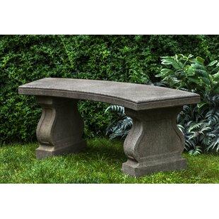 Zimelman Cast Stone Garden Bench