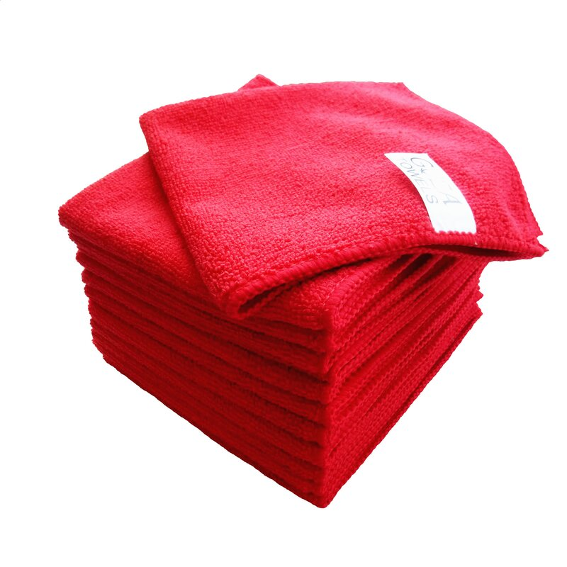 AG Gapital Goza 12 Pieces in Set Washcloth Towel Set  Finish: Red