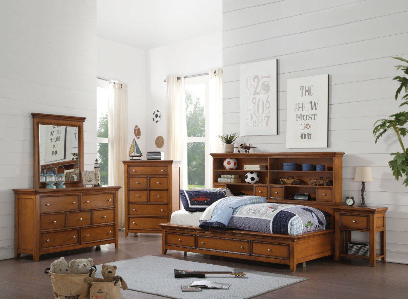 Dolson Daybed With Bookcase And Drawers