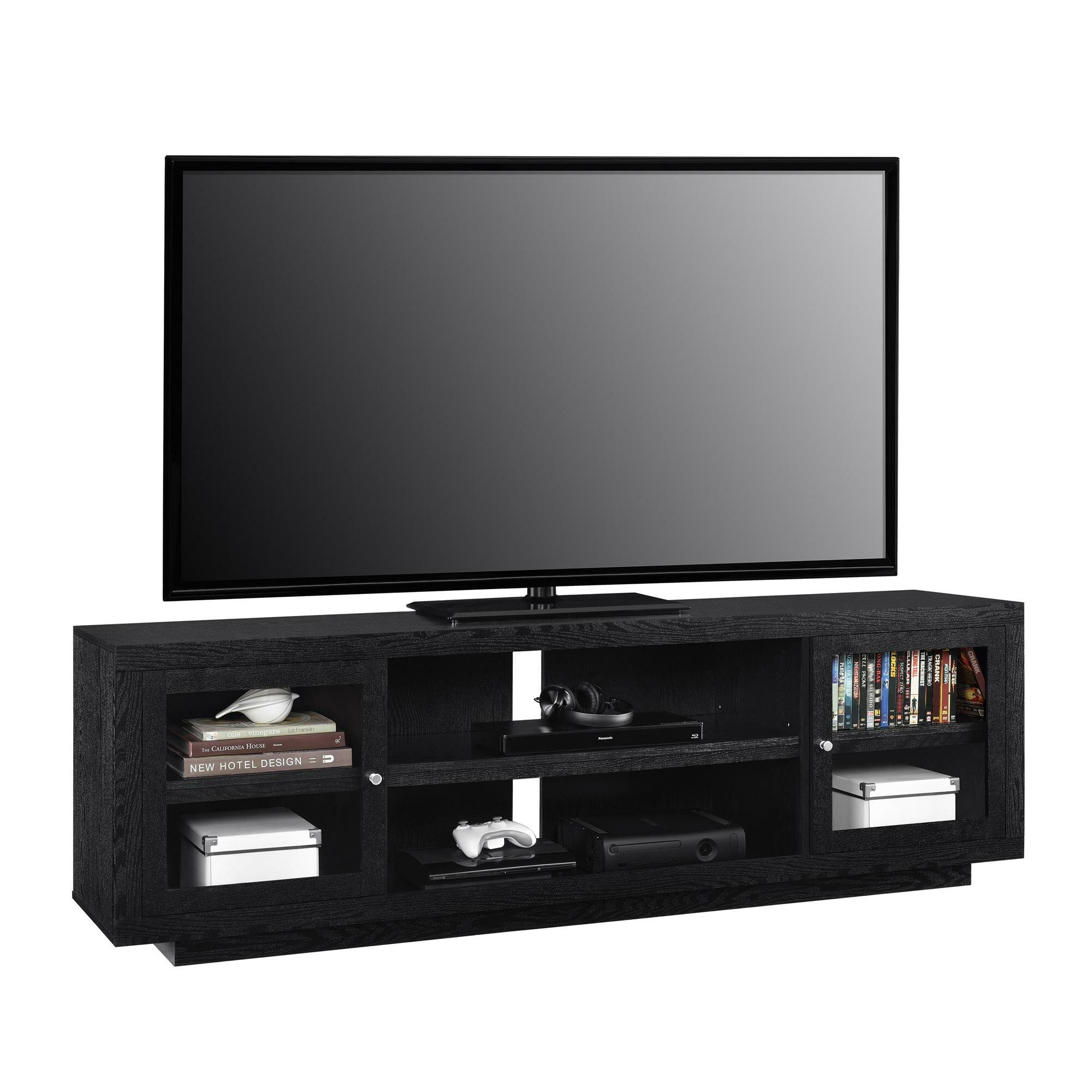wooden wood placed corner tv bedroom tall natural fancy stand matte varnished the floor on awesome brown oak dark for