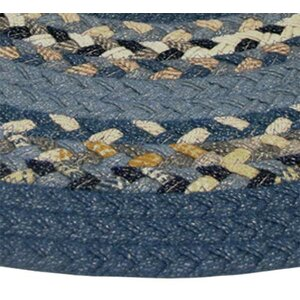 Minuteman Blue Multi with Dark Blue Solids Multi Runner Rug