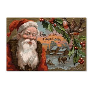 'Santa Claus 5' Graphic Art Print on Wrapped Canvas
