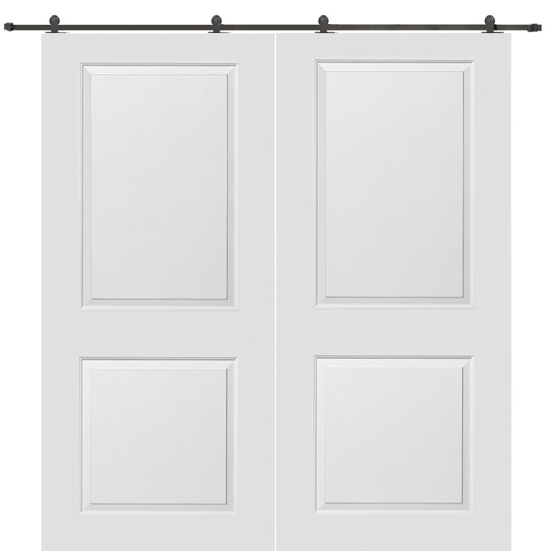 Carrara Smooth Surface Solid Panelled Interior Barn Double Door