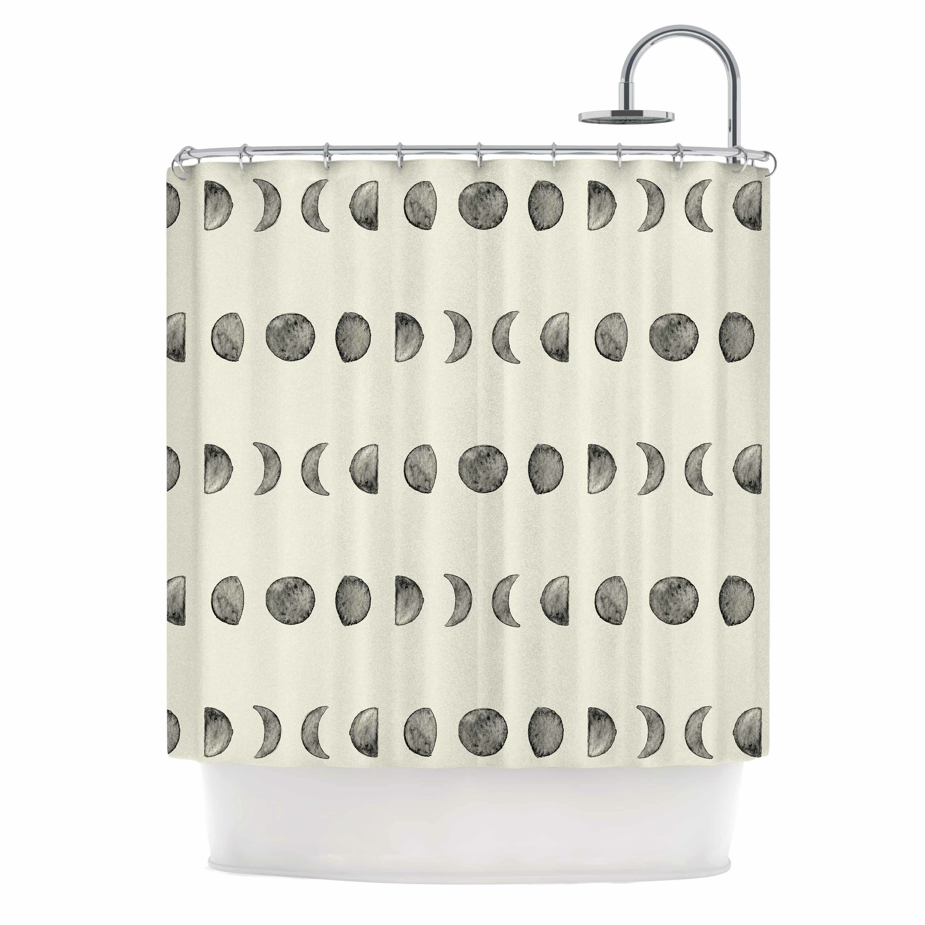 East Urban Home \'Phases of the Moon\' Shower Curtain   Wayfair