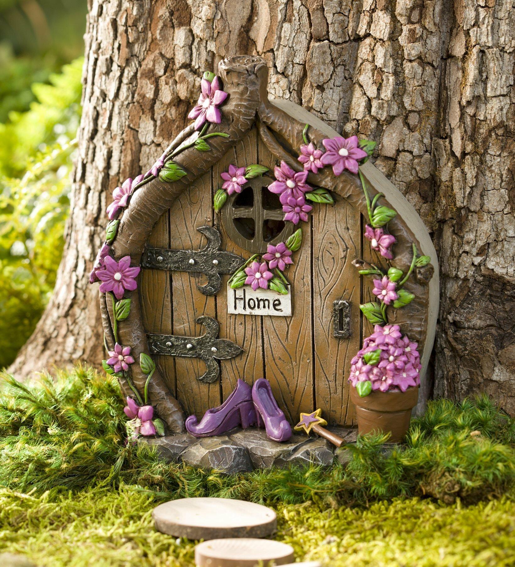 Wind & Weather Shoes Door Fairy Garden & Reviews | Wayfair