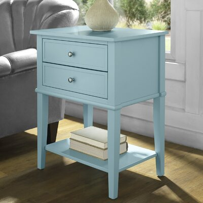 Farmhouse Amp Rustic Blue End Amp Side Tables Birch Lane