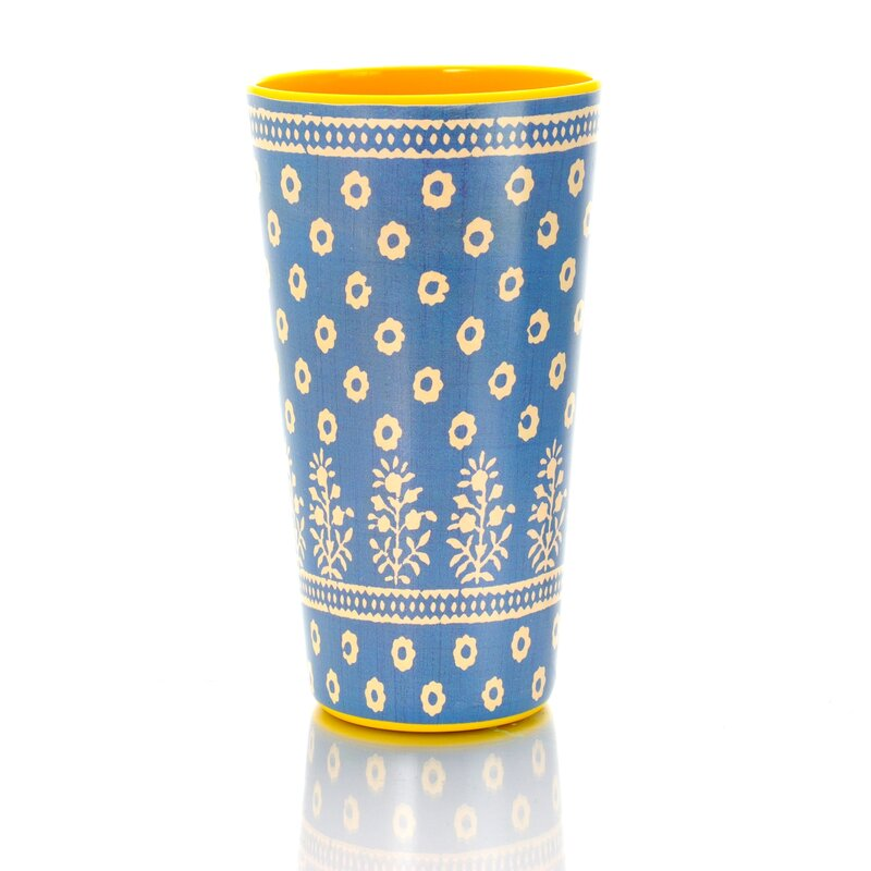 Tough Melamine TumblerWhite Colourful Spots Dotted for Cold Drinks and BBQs
