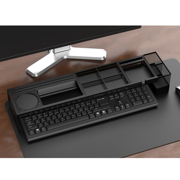 Mind Reader Axel Metal Desk Organizer With Charging