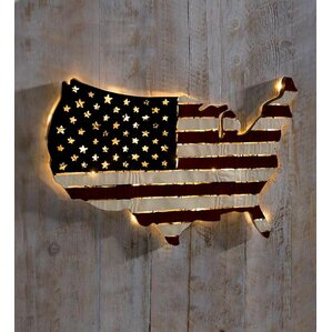 Lighted Pictures Wall Decor lighted metal wall art you'll love | wayfair