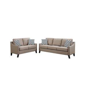 Bobkona Debora 2 Piece Living Room Set by Po..