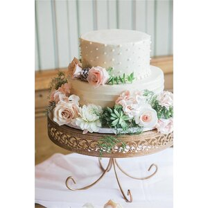 3 Piece Loop Band Cake Plate Stand Set