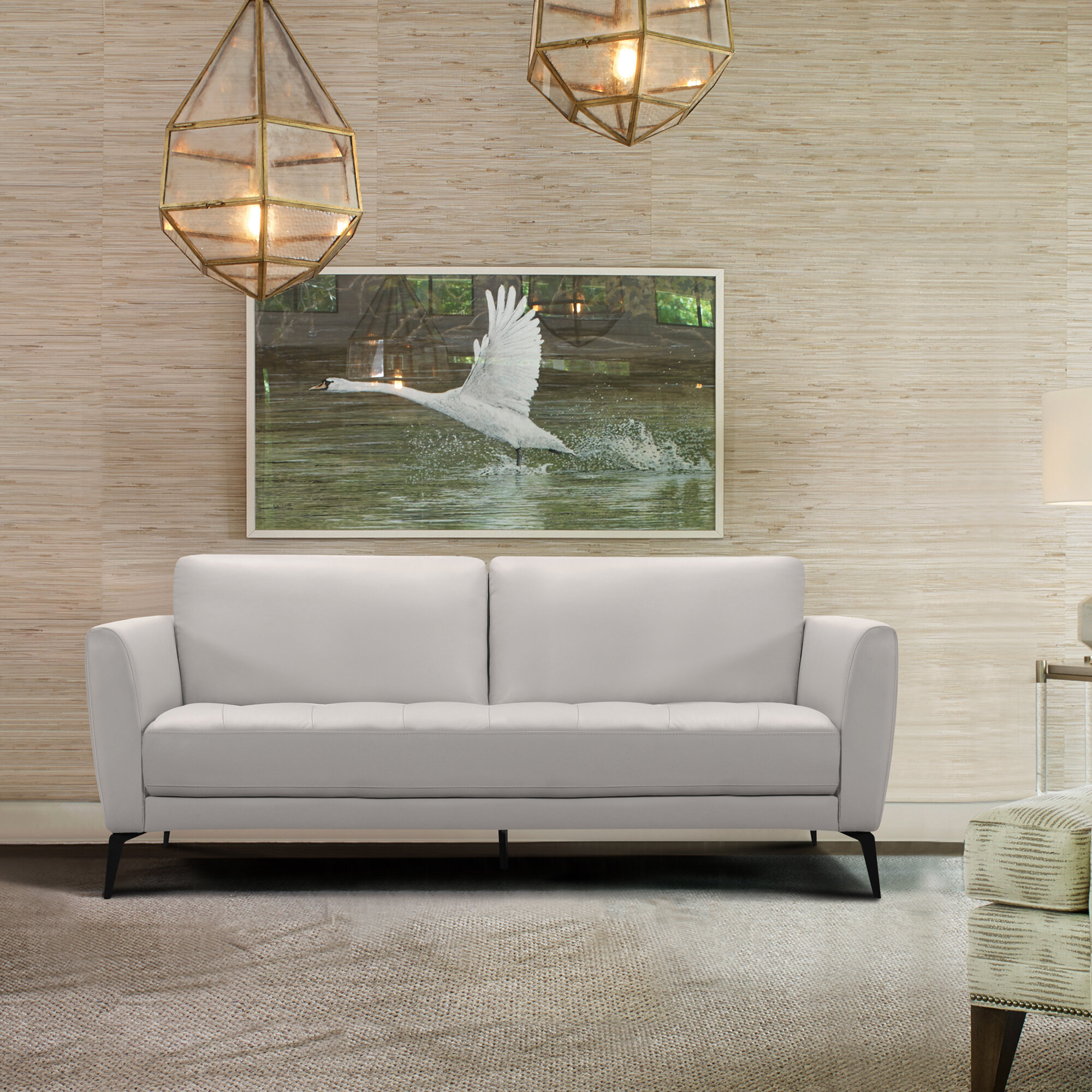 Rankins Contemporary Leather Sofa