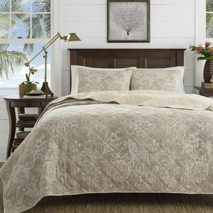 Tideway Jacobean Raffia Cotton Quilt Set by Tommy Bahama Bedding