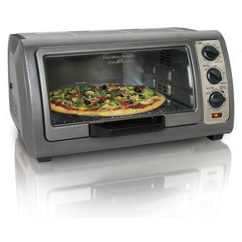 Hamilton Beach 0 6 Cu  Ft  Easy Reach Toaster Oven with Convection