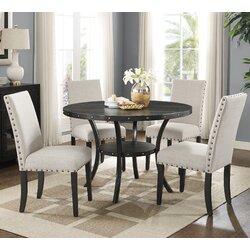5 Piece Dining Sets roundhill furniture biony espresso 5 piece dining set & reviews