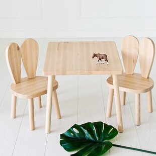 Harris Children's 3 Piece Rectangular Table and Chair Set by Viv   Rae