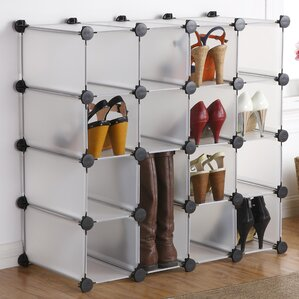 shoe furniture. interlocking 16compartment 16 pair shoe rack furniture