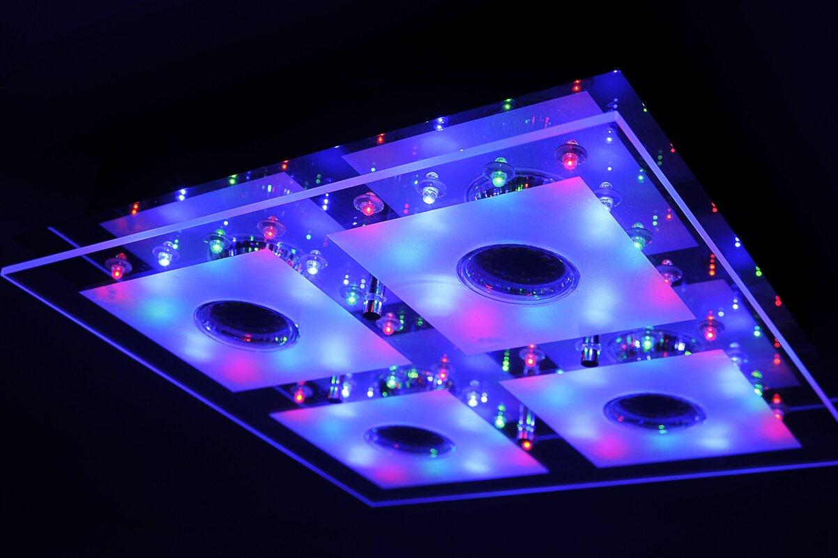 leuchten direkt deckenleuchte 4 flammig stefan bewertungen. Black Bedroom Furniture Sets. Home Design Ideas