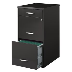 Alayna Office Designs 3 Drawer Vertical File Cabinet