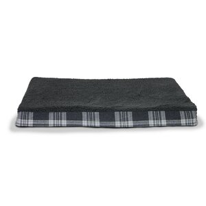 Boomer Faux Sheepskin and Plaid Orthopedic Pet Bed