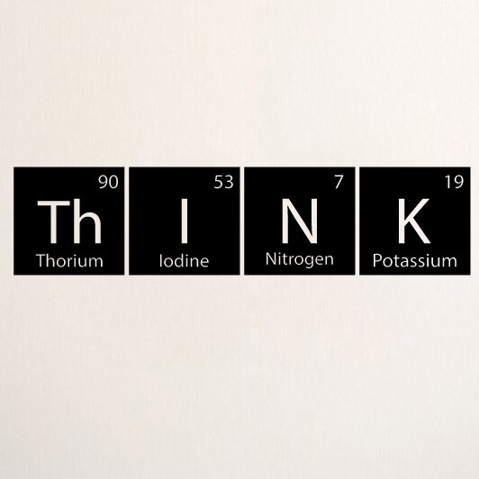 Think Periodic Table Wall Decal Allmodern