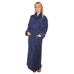 Laurens Women s Optimal Shawl Collar 100% Cotton Terry Cloth Bathrobe 79613c349