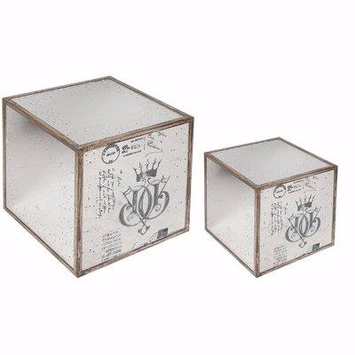 One Allium Way Argens Piece Ideal Mirrored Cube End Table Set - Mirrored cube end table