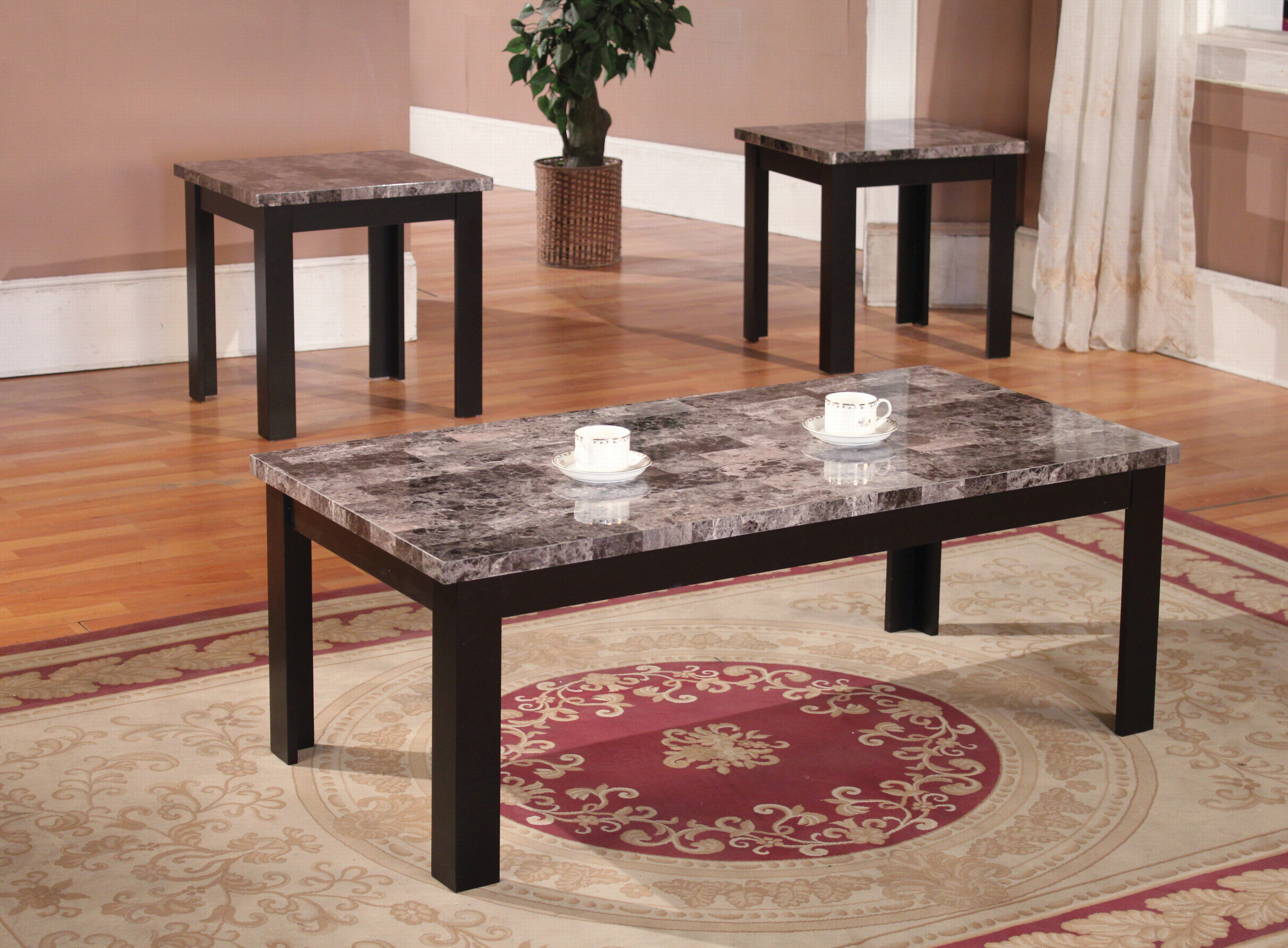 Andover Mills Cecil Marble Top 3 Piece Coffee Table Set & Reviews