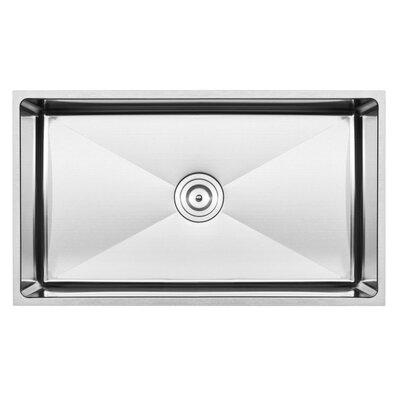 pacific series 16 gauge stainless steel 31   x 18   undermount kitchen sink with additional accessories houzer eston 31 25   x 17 75   undermount 50 50 double bowl kitchen      rh   wayfair com