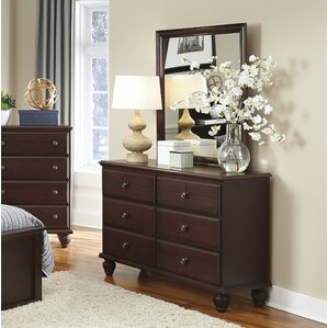 6 Drawer Double Dresser with Mirror by Carolina Furniture Works, Inc.
