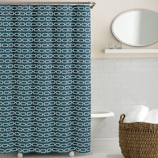 Teal Fabric Shower Curtain
