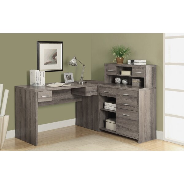 Milford L Shaped Computer Desk With Hutch Amp Reviews