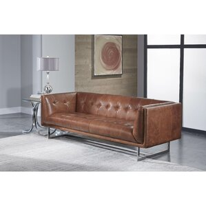 Gulielma Leather Sofa by 17 Stories