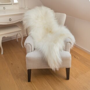 Savings Augustin Sheepskin White/Ivory Area Rug By Willa Arlo Interiors