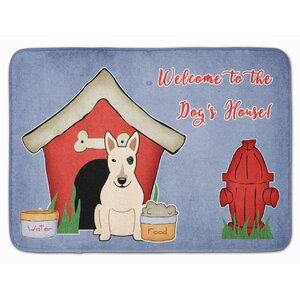 Dog House Bull Terrier Memory Foam Bath Rug