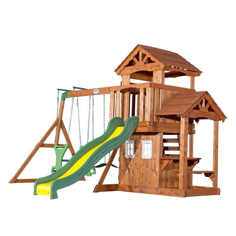 Backyard Discovery Tanglewood All Cedar Swing Set Wayfair