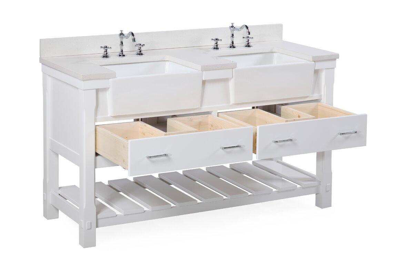 Kbc Charlotte 60 Double Bathroom Vanity Set Reviews
