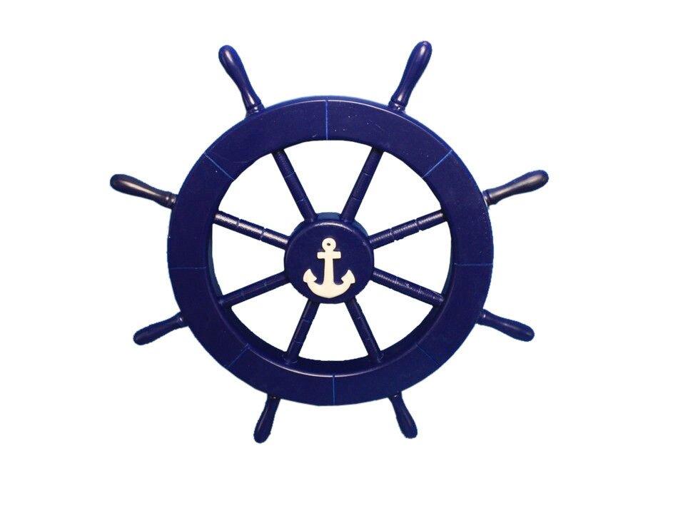 Superbe Ship Wheel With Anchor Wall Decor