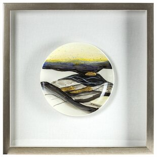 a0924a5fd6ce  Decorative Ceramic Plate with Gold Accents  Framed Wall Art
