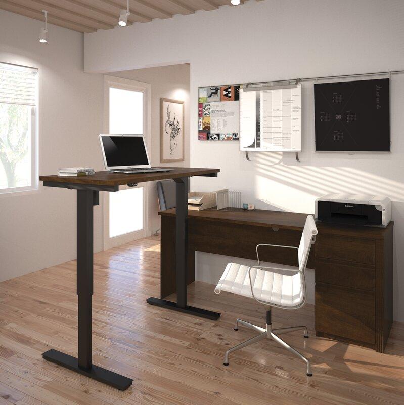bormann lshape standing desk with height adjustable table